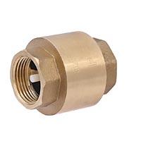 Клапан обратный пружинный осевой с пластиковым механизмом