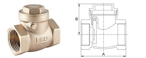 Клапан обратный дисковый горизонтальный