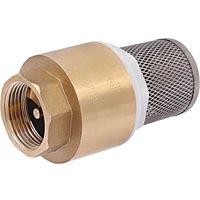 Клапан обратный пружинный осевой терминальный с фильтром