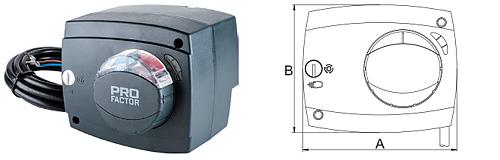 Электропривод 5/230 для поворотных смесительных клапанов