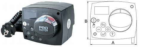 Электропривод 6/230 со встроенным программируемым контроллером для поворотных смесительных клапанов