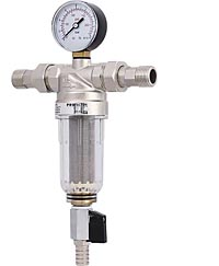 Фильтр промывной с манометром и прозрачной колбой (для холодной воды)