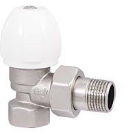 Вентиль радиаторный регулировочный угловой с седельным затвором